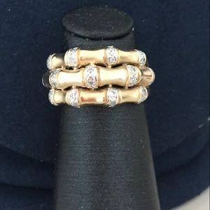 14k gold Italian make ring with diamonds.